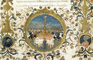 Francesco Di Antonio Del .. - Miniature of Petrarch's T..