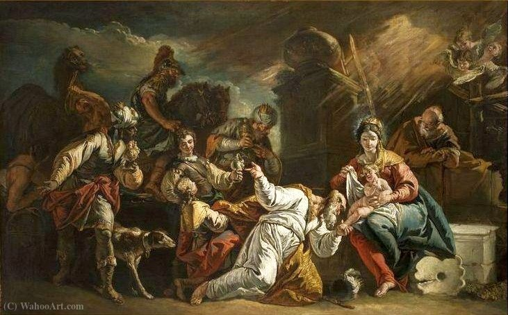 The Adoration of the Magi. by Francesco Fontebasso (1707-1769, Italy) | ArtsDot.com
