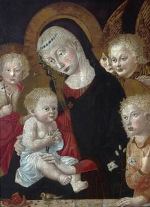 Francesco Di Stefano Pese.. - Madonna and Child with Sa..