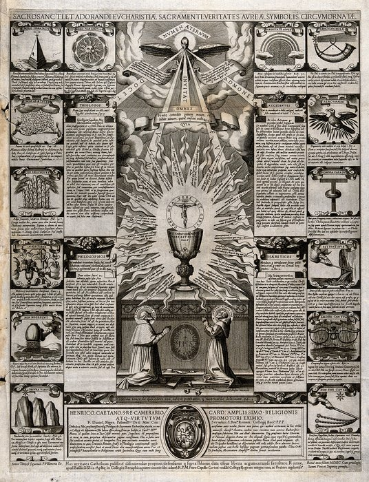 Order Museum Quality Copies | The Eucharist venerated by Francesco Villamena (1564-1624, Italy) | ArtsDot.com