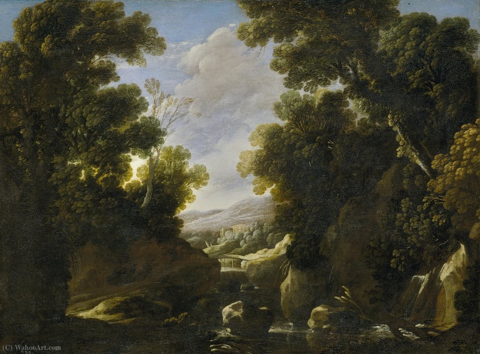 Lush landscaping by Francisco Collantes (1599-1656, Spain)