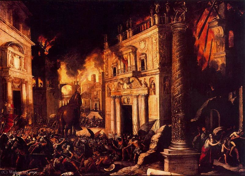 Trojan fire by Francisco Collantes (1599-1656, Spain)