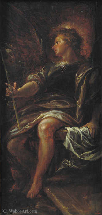 The Angel before the Grave by Francisco Rizi (1608-1685, Spain)