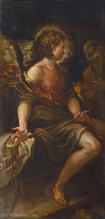 The angel freeing saint peter by Francisco Rizi (1608-1685, Spain)