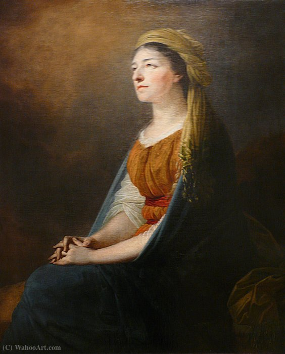 Maria from the Czartoryski Wirtemberska by Friedrich Heinrich Füger (1751-1818, Germany)