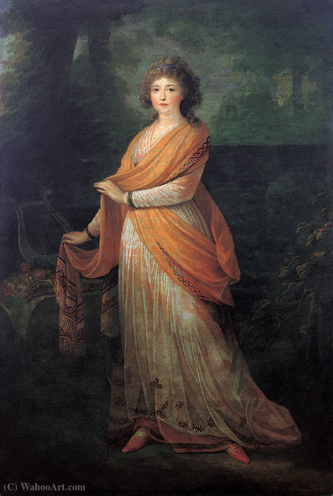 Portrait of Varvara Golytsyna by Friedrich Heinrich Füger (1751-1818, Germany)