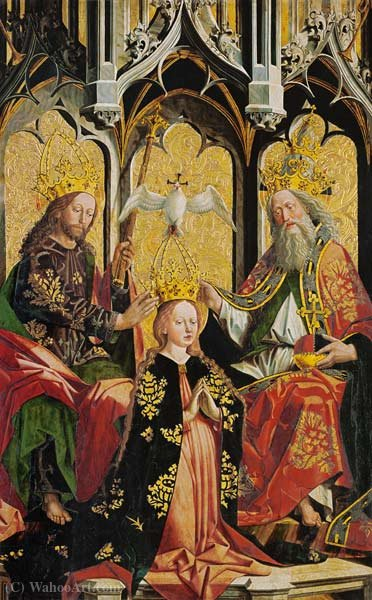 The Coronation of the Virgin by Friedrich Pacher (1474-1508, Italy) | Art Reproduction | ArtsDot.com