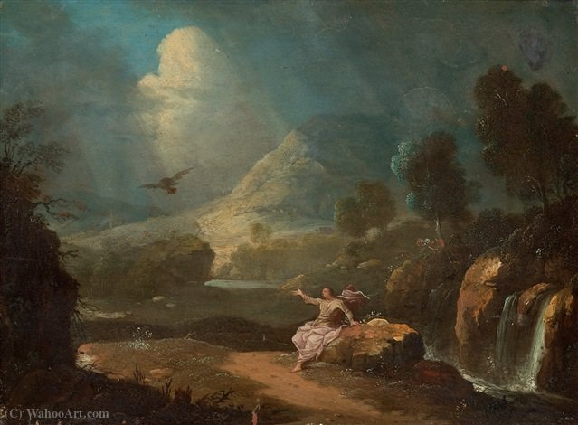 Landscape with St. John by Gabriel Pérelle (1604-1677, France) | Art Reproduction | ArtsDot.com