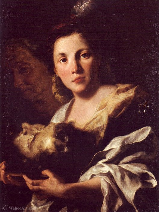 Salome with the Head of John the Baptist by Gaspare Traversi (1722-1770, Italy) | Museum Quality Reproductions | ArtsDot.com