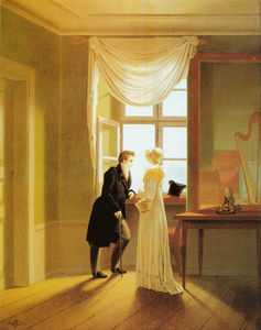 Georg Friedrich Kersting - Couple at the window
