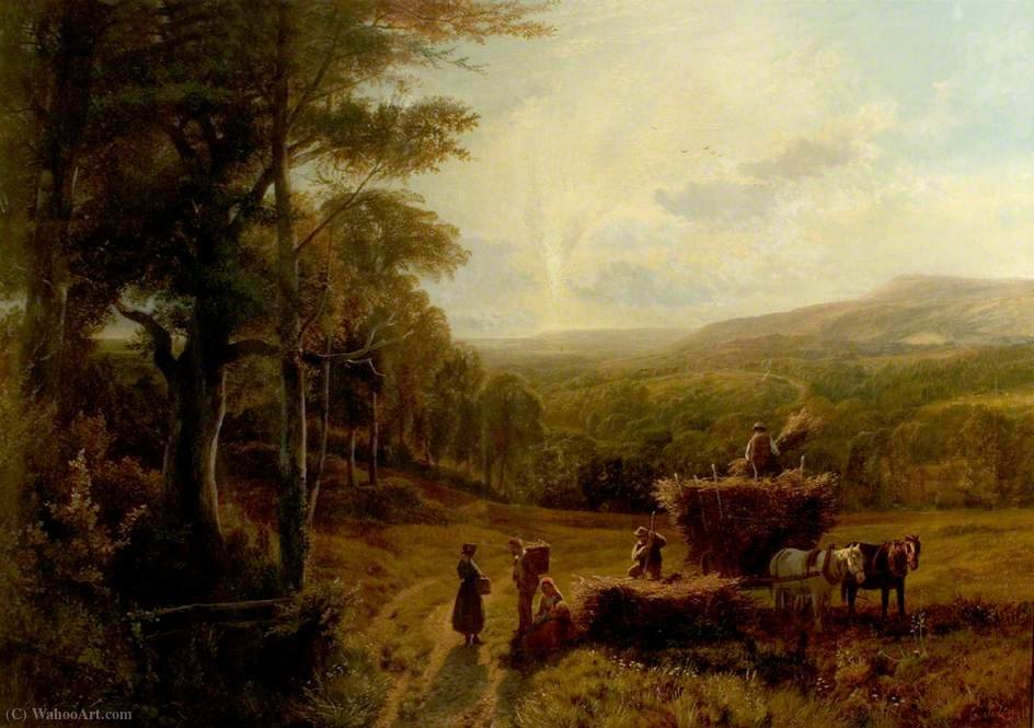 Near haslemere, surrey by George Shalders (1825-1873, United Kingdom) | ArtsDot.com