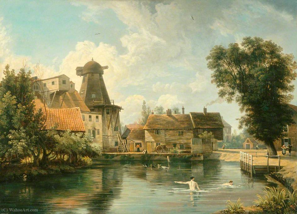 A norfolk millpool by George Vincent (1796-1831, United Kingdom)