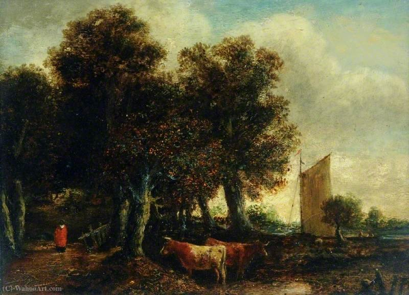 A View near Thorpe, Norwich, Norfolk by George Vincent (1796-1831, United Kingdom)