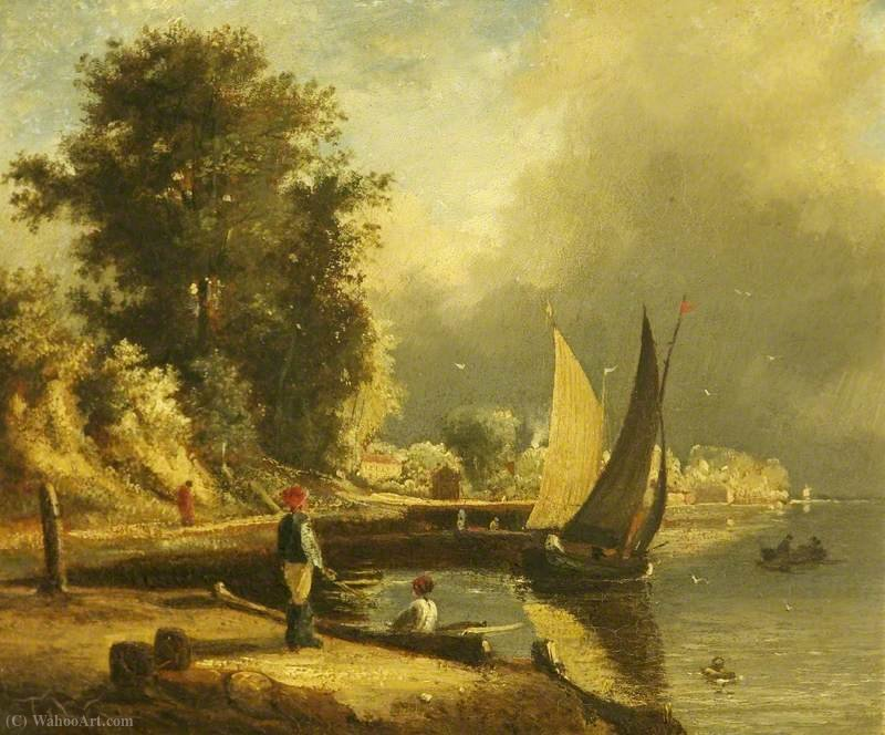 Figures by a River by George Vincent (1796-1831, United Kingdom)