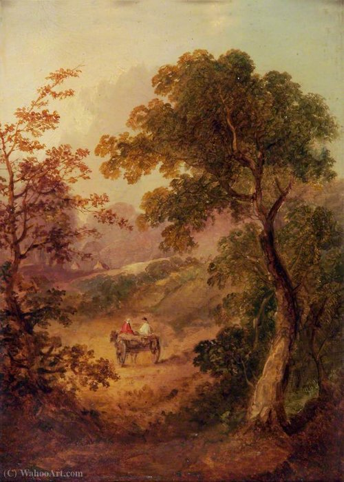 Landscape with a Cart by George Vincent (1796-1831, United Kingdom)