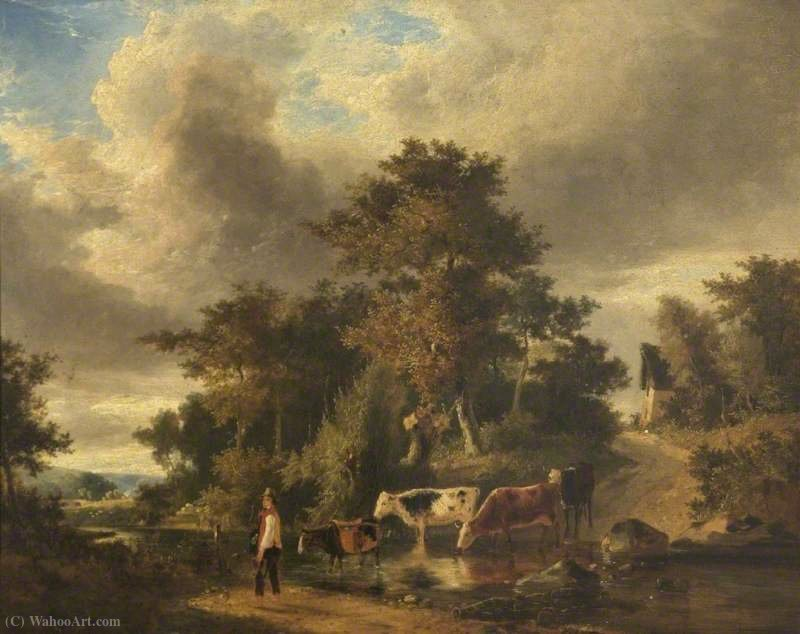 The travelling tinker by George Vincent (1796-1831, United Kingdom)