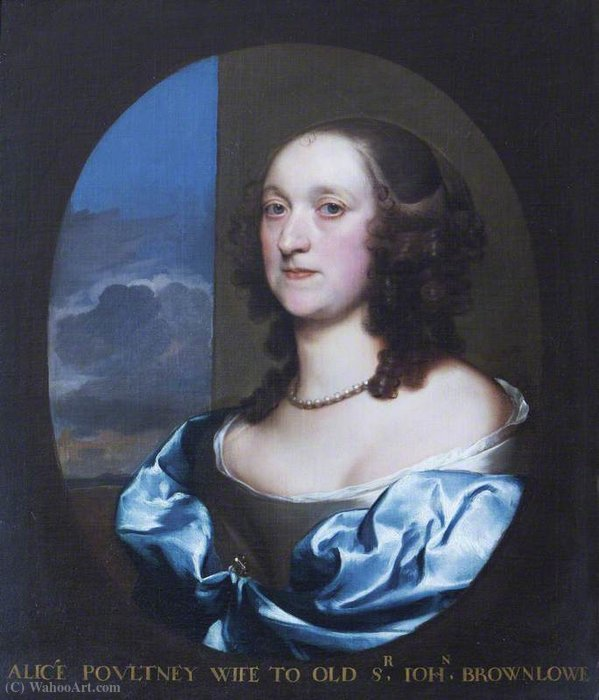 Alice pulteney by Gerard Soest (1600-1681, Germany)