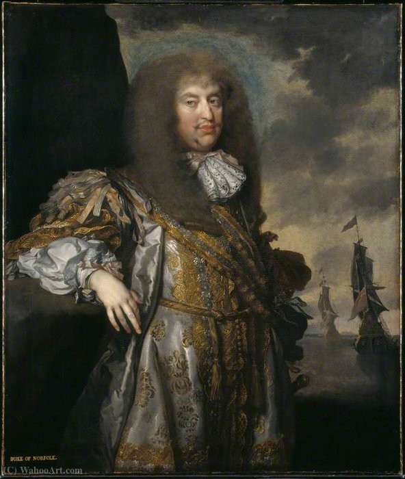 Henry Howard, 6th Duke of Norfolk by Gerard Soest (1600-1681, Germany)