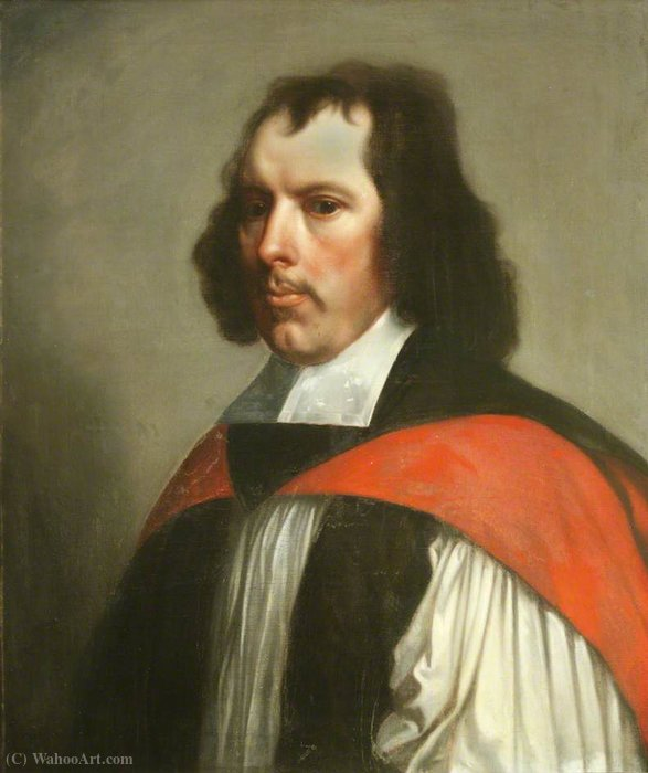 Thomas Cartwright , Bishop of Chester by Gerard Soest (1600-1681, Germany)