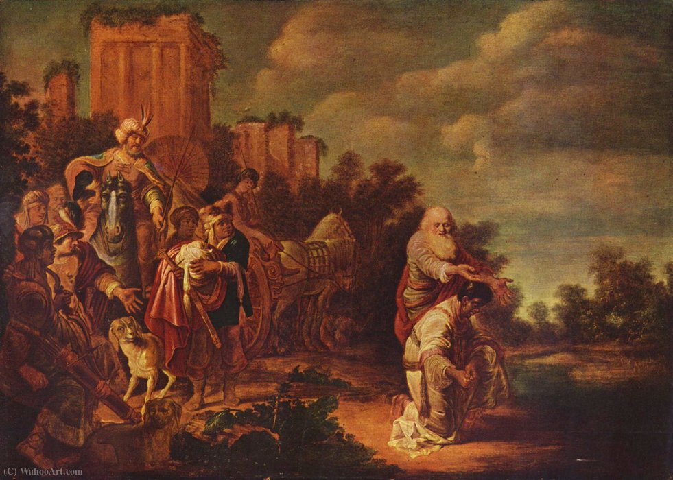 Order Paintings Reproductions | Philip baptizes the Moor by Gerrit Claesz Bleker (1593-1656, Netherlands) | ArtsDot.com