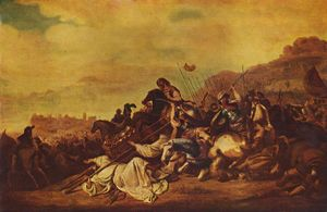 Gerrit Claesz Bleker - The battle of Ebenezer
