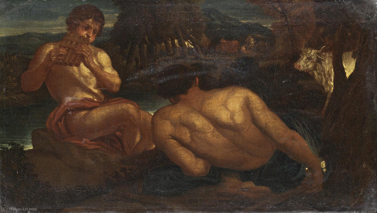 Mercury and argo by Giacinto Brandi (1621-1691, Italy) | Museum Quality Reproductions | ArtsDot.com
