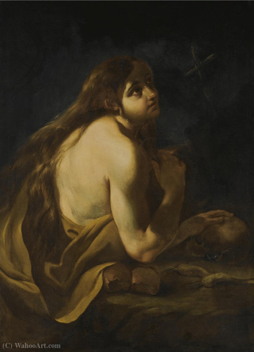 The penitent mary magdalene by Giacinto Brandi (1621-1691, Italy)