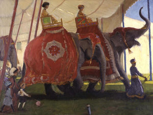 Gifford Beal - Elephants
