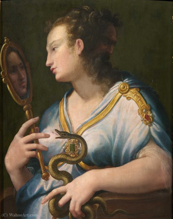 Allegory of Prudence by Girolamo Macchietti (1535-1592, Italy)