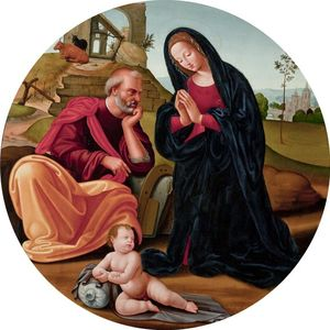 Giuliano Bugiardini - The holy family