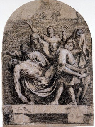 The Entombment of Christ by Guy François (1939-1978, Italy) | ArtsDot.com
