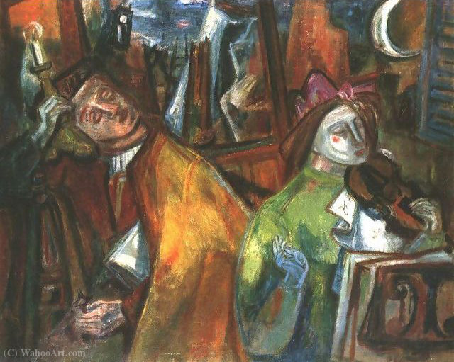 Dark Times VIII by Gyula Hincz (1904-1986, Hungary) | Painting Copy | ArtsDot.com