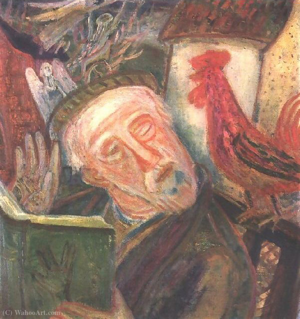 So Speaks the Cock by Gyula Hincz (1904-1986, Hungary)