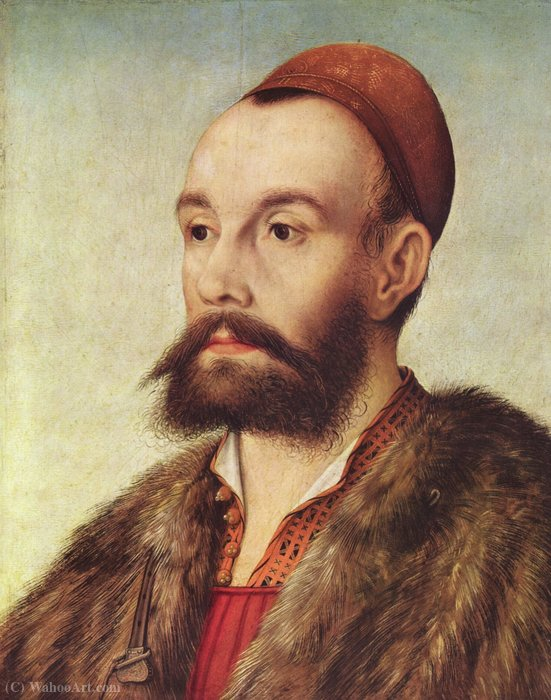Order Paintings Reproductions | Portrait of Anton Fugger by Hans Maler (1480-1530, Germany) | ArtsDot.com
