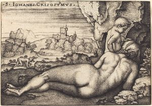Hans Sebald Beham - The Penance of Saint John..