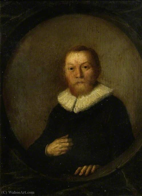 Portrait of a Man by Hendrick Gerritsz Pot (1580-1657, Netherlands) | Painting Copy | ArtsDot.com