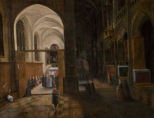 Hendrick Van The Younger .. - Church interior