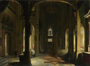 Hendrick Van The Younger .. - Interior of a Church at N..
