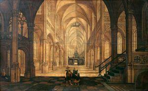 Hendrick Van The Younger .. - Interior of a Church Look..