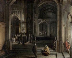 Hendrick Van The Younger .. - Interior of a Church