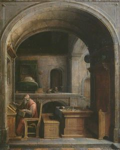 Hendrick Van The Younger .. - Saint Jerome in His Study