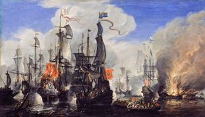 Hendrik Van Minderhout - An Engagement Between the English and the Dutch Fleets