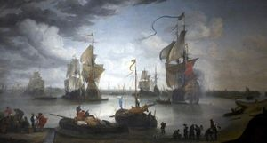 Hendrik Van Minderhout - View of Bruges Harbour