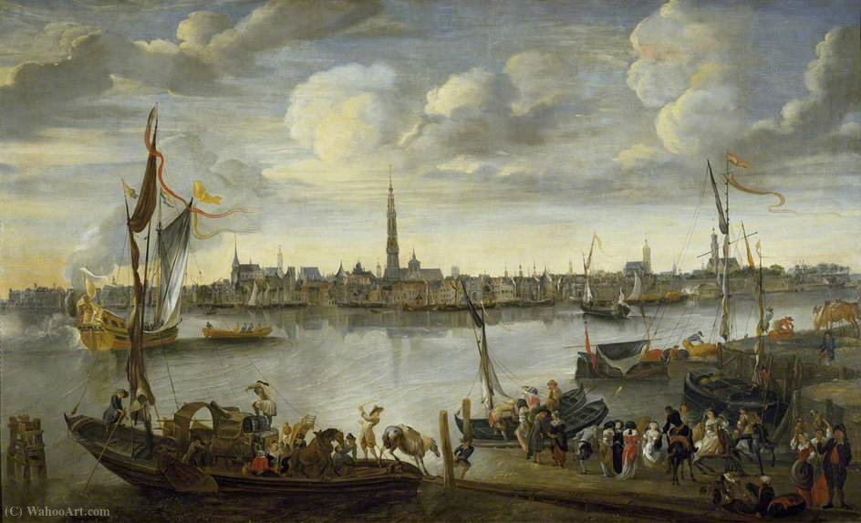 View of the Roads of Antwerp from the West Bank by Hendrik Van Minderhout (1632-1696, Netherlands)