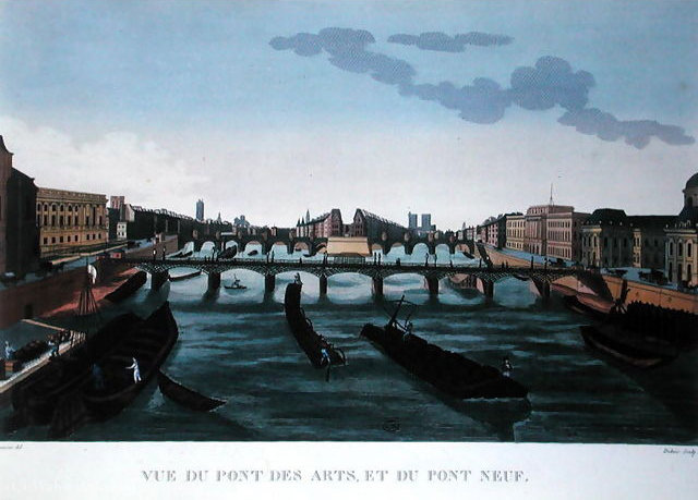 The Pont des Arts and the Pont Neuf, c.1815 - (20) by Henri Courvoisier Voisin (1757-1830, France)