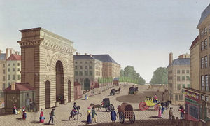 Henri Courvoisier Voisin - The Porte Saint Martin, c.1815..