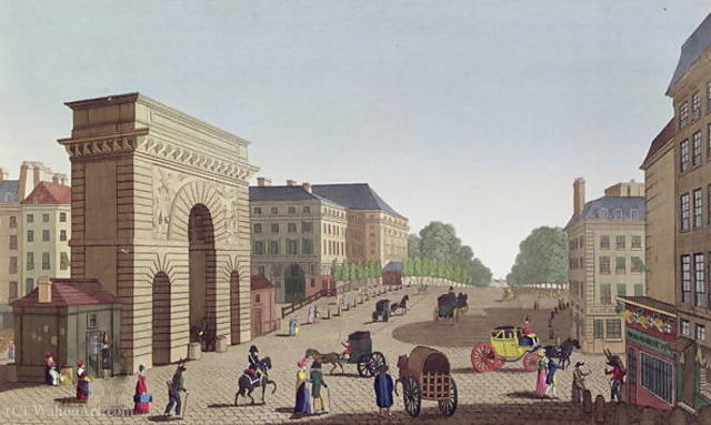 The Porte Saint Martin, c.1815 - (20) by Henri Courvoisier Voisin (1757-1830, France)