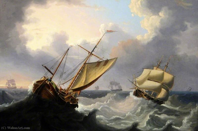 Bay of Biscay by Henry Redmore (1820-1887, United Kingdom) | Museum Quality Reproductions | ArtsDot.com