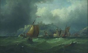 Henry Redmore - Boats off Whitby, North Y..