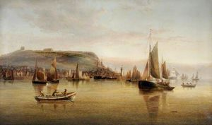 Henry Redmore - Busy Morning at Scarborou..